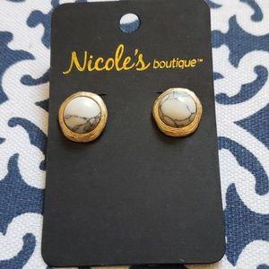 NWT Marble Earrings